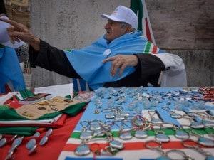 Manifestazione a Piazza del Popolo a favore di Silvio Berlusconi.