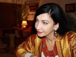 La poetessa Maram–al–Masri