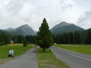 Strada verso i monti Tatra
