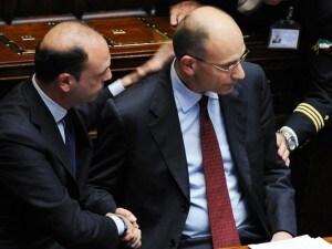 Enrico Letta con Angelino Alfano