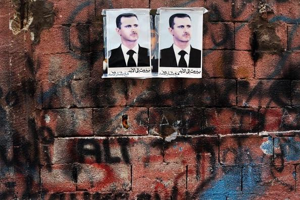 Manifesti pro Assad a Beirut