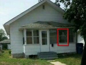 La casa di Gary. Una foto scattata dalla polizia