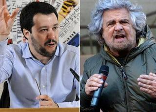 """Grillo: """"Votateci per beneficenza"""". Salvini: """"Ormai non fa più ridere, poveretto. Fa pena"""""""