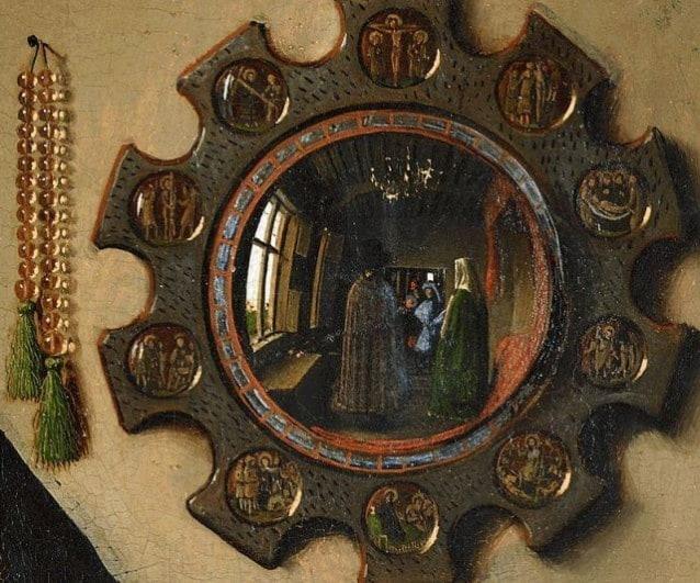 Dettaglio del Ritratto dei Coniugi Arnolfini