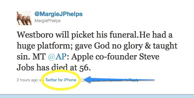 Westboro Church proteste annunciate per i funerali di Steve Jobs 2