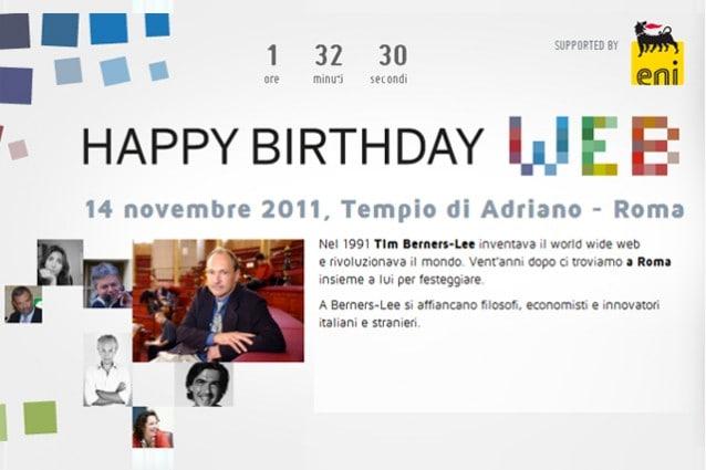 Buon compleanno Web: segui il Live Blogging di Tech Fanpage
