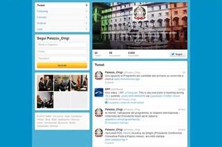 Palazzo Chigi inaugura l'account su Twitter