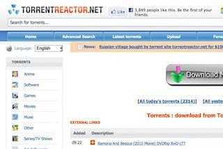 Copyright, la GdF oscura Torrentreactor.net e Torrents.net