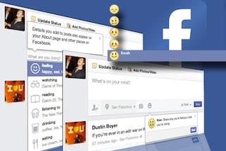 """Facebook introduce """"cosa stai facendo"""" anche in Italia"""