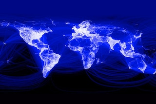 Facebook pubblica un grafico delle connessioni in tutto il mondo, assenti Cina ed Africa