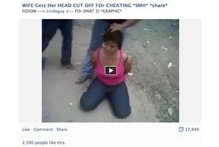 """Facebook elimina il video della decapitazione: """"Esaltava la violenza"""""""