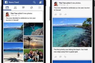 Facebook aggiorna il layout delle foto caricate da smartphone
