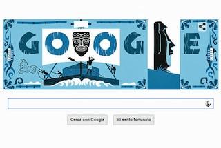 I viaggi di Thor Heyerdahl nel nuovo Doodle di Google