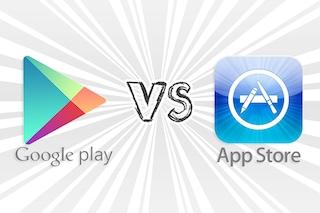 Google Play supera l'App Store per numero di download ma non per ricavi