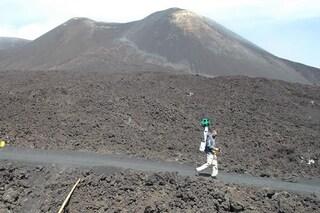 Google Street View ci porta sulla vetta del vulcano Etna