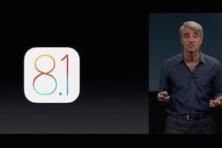 iOS 8.1 presentato ufficialmente, il download da Lunedì