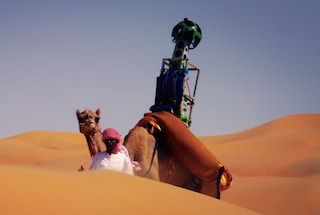 Street View nel deserto, una videocamera di Google sul dorso di un dromedario