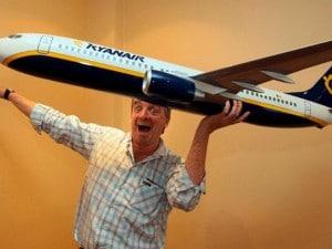 "O' Leary che... ""gioca"" con un boing Ryanair"