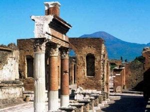 Panoramica sugli scavi di Pompei