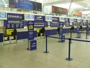 Verso l'imbarco con la compagnia low cost Ryanair