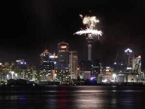 Primo Capodanno nel mondo a Auckland