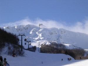 Roccaraso sulla neve in Aremogna