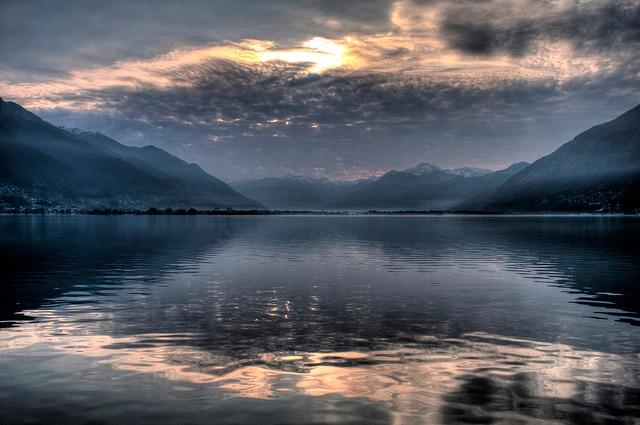 lago maggiore crepuscolo