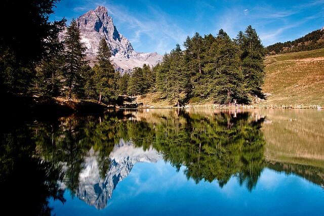 cervinia natale lago blu