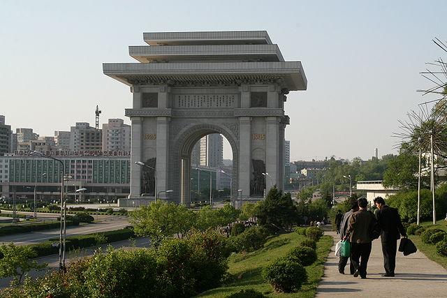 corea del nord arco di trionfo pyongyang