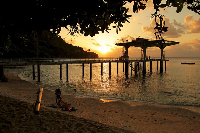 isola di natale spiaggia flying fish cove