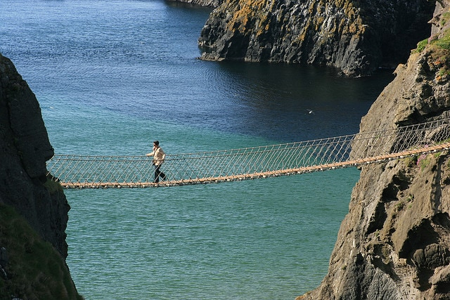 ponti sospesi carrick a rede rope bridge
