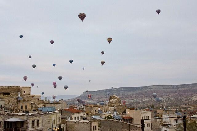 Goreme e le mongolfiere sulla Cappadocia