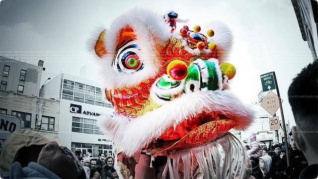 capodanno cinese danza del leone