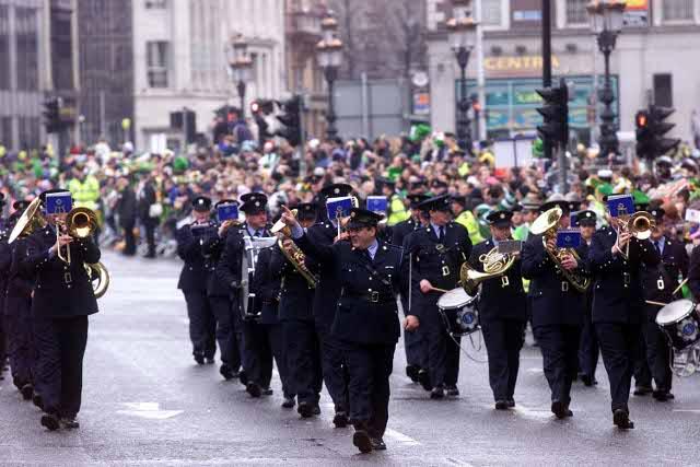 Bande della parata di San Patrizio