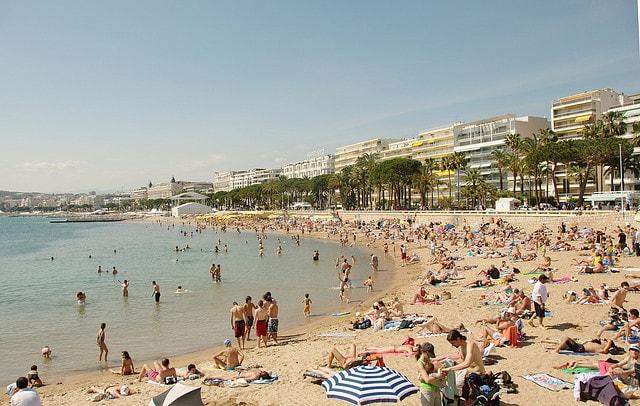 Cannes, spiaggia