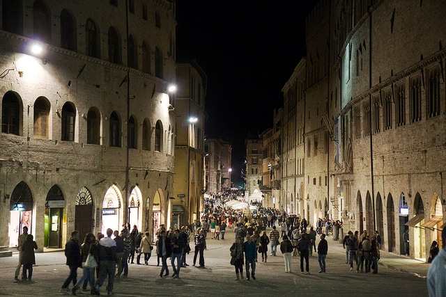 Perugia by night