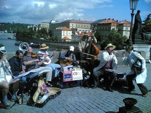 artisti di strada Praga