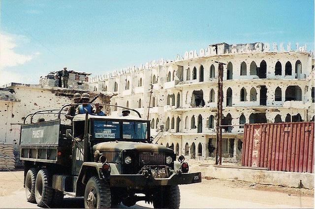Convoglio militare in Somalia