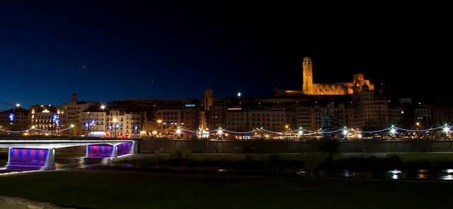 Lleida di notte