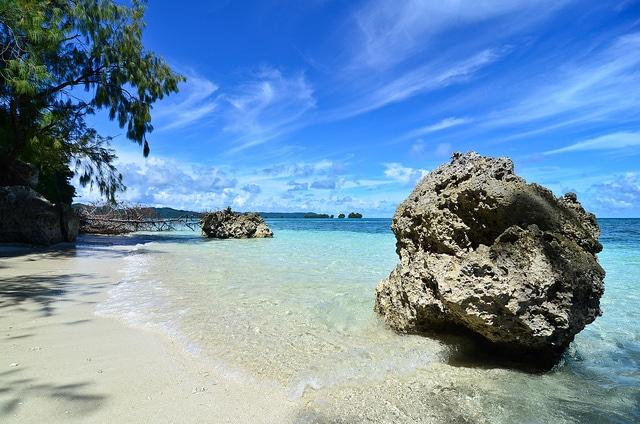 Palau, spiaggia