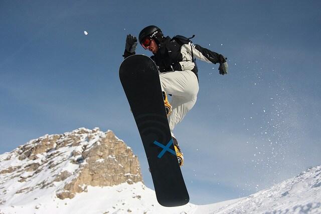 Snowboard a Canazei