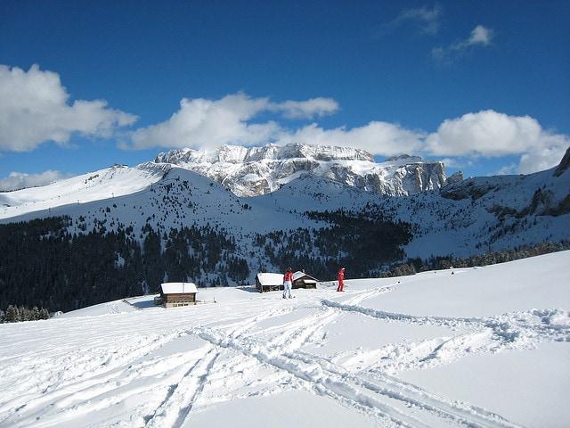 piste da sci in Val gardena