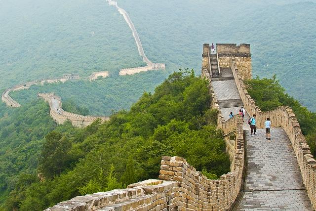 tratto di muraglia cinese