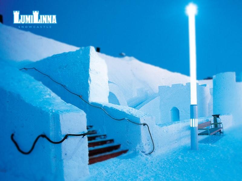 Castello di neve Kemi dall'esterno