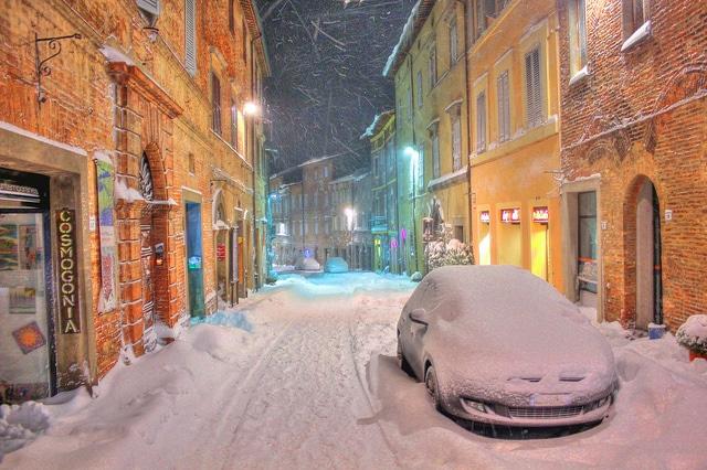 Città delle Pieve in inverno