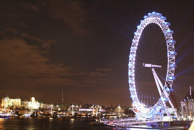 London Eye a Capodanno