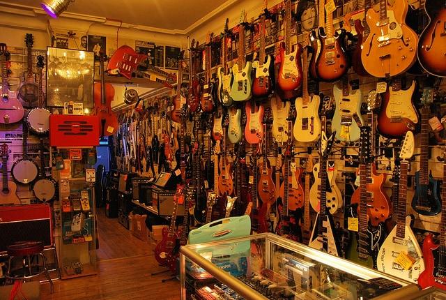 Negozio di chitarre a Denmark Street