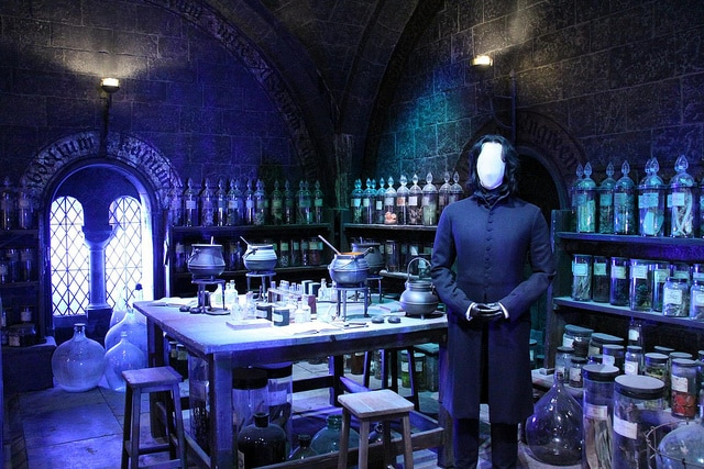 The Making of Harry Potter Classe di pozioni magiche