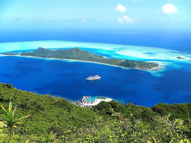 Bora bora, l'isola dall'alto