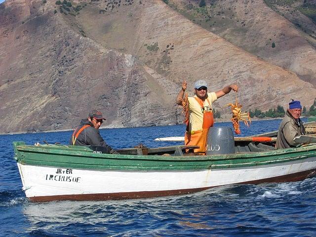 Isola di Robinson Crusoe, la pesca delle aragoste